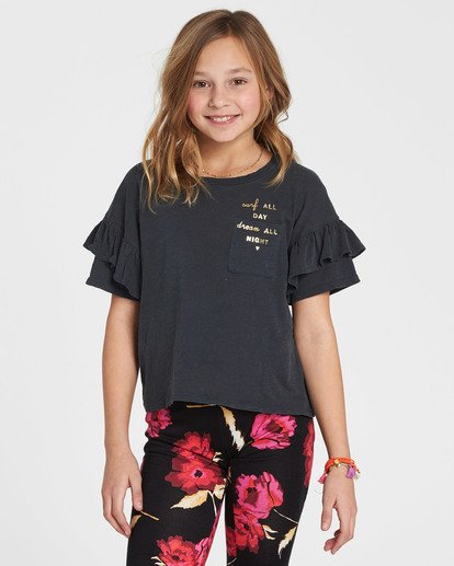 0 Girls' T-Shirt Time Pocket T-Shirt Black G902QBTE Billabong