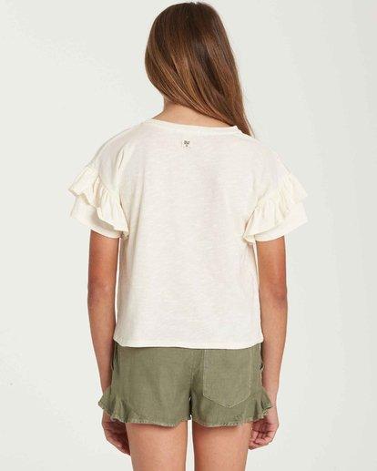 2 Girls' T-Shirt Time Pocket T-Shirt Beige G902QBTE Billabong