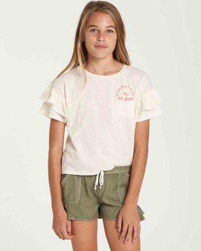 0 Girls' T-Shirt Time Pocket T-Shirt Beige G902QBTE Billabong