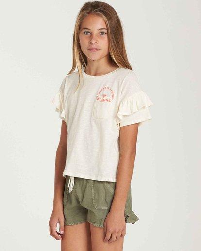 1 Girls' T-Shirt Time Pocket T-Shirt Beige G902QBTE Billabong