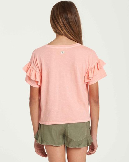 2 Girls' T-Shirt Time Pocket T-Shirt Orange G902QBTE Billabong