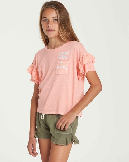 1 Girls' T-Shirt Time Pocket T-Shirt Orange G902QBTE Billabong