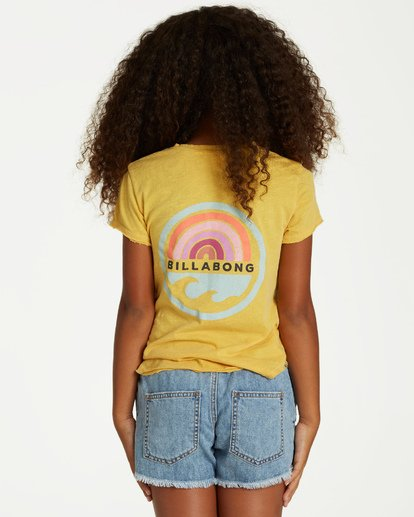 2 Girls' New Day Top Yellow G902VBNE Billabong