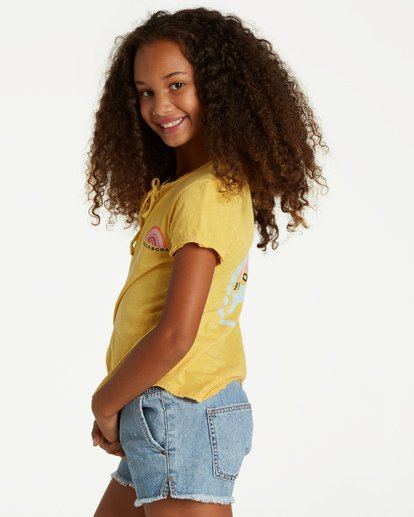 1 Girls' New Day Top Yellow G902VBNE Billabong