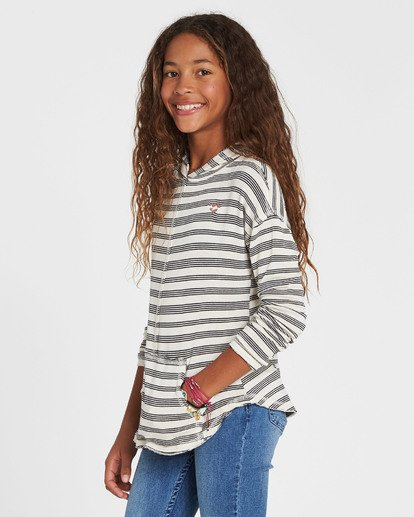 1 Girls' These Days Hooded Long Sleeve White G903SBTH Billabong
