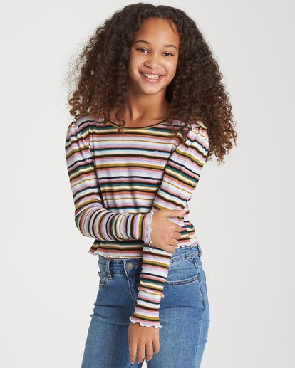 0 Girls' Going Places Top Grey G903WBGO Billabong