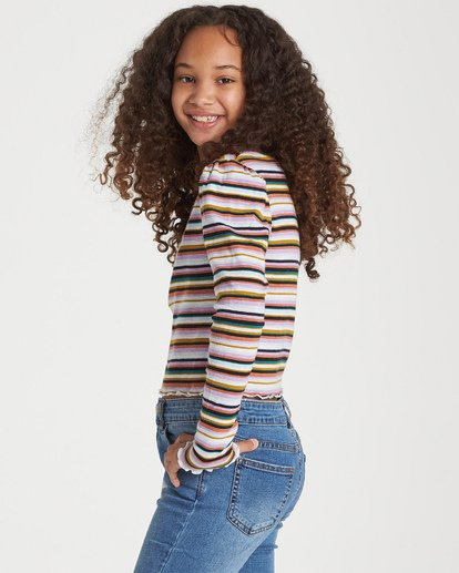 1 Girls' Going Places Top Grey G903WBGO Billabong