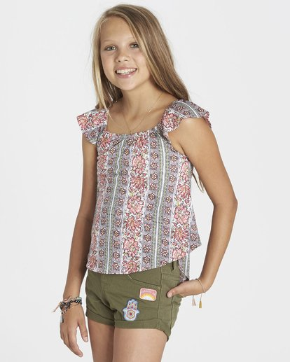 1 Girls' Word For Word Top  G904KWOR Billabong