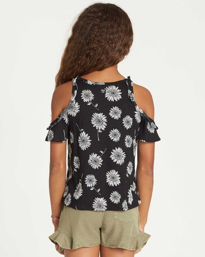 2 Girls' Finding Flowers Knit Top Black G904TBFI Billabong