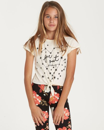 0 Girls' Knot It Top Beige G905QBKN Billabong