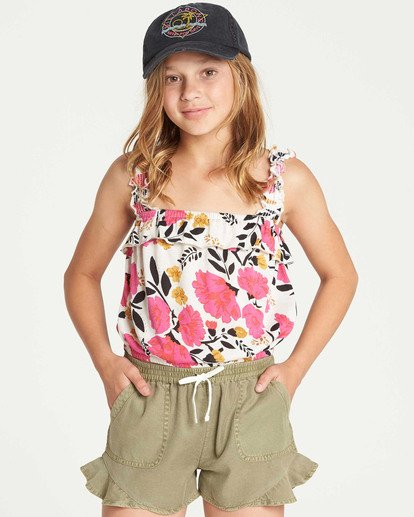 0 Girls' Love Lily Tank Grey G905TBLO Billabong