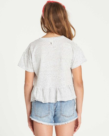 2 Girls' Sand And Sea Peplum T-Shirt Grey G908TBSA Billabong