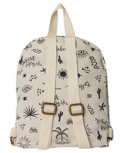 3 Girls' Mini Mama Jr Canvas Backpack White GABGWBMI Billabong