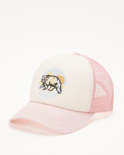 1 Girls' Pitstop Trucker Hat Pink GAHTHPIT Billabong