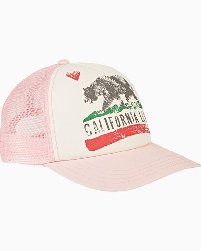 2 Girls' Pitstop Trucker Hat Pink GAHTHPIT Billabong