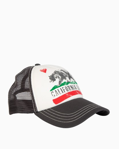 2 Girls' Pitstop Trucker Hat Grey GAHTHPIT Billabong
