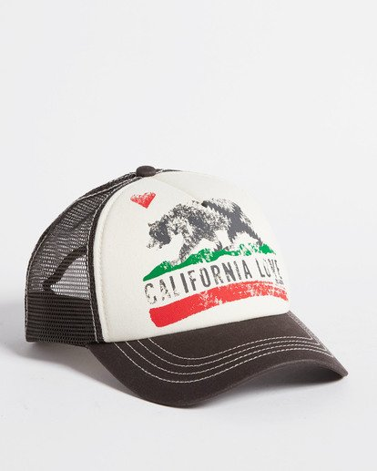 1 Girls' Pitstop Trucker Hat White GAHTHPIT Billabong