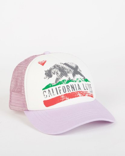 2 Girls' Pitstop Trucker Hat White GAHTHPIT Billabong