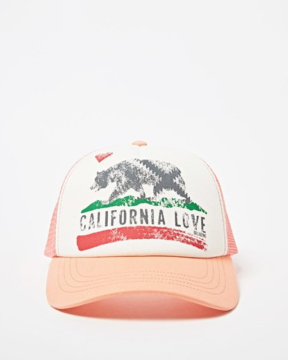 1 Girls' Pitstop Trucker Hat Green GAHTHPIT Billabong