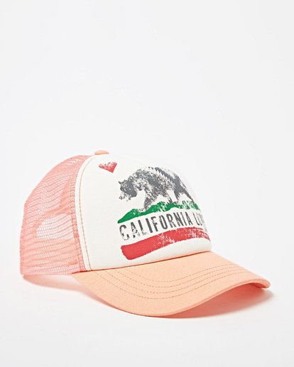 2 Girls' Pitstop Trucker Hat Green GAHTHPIT Billabong