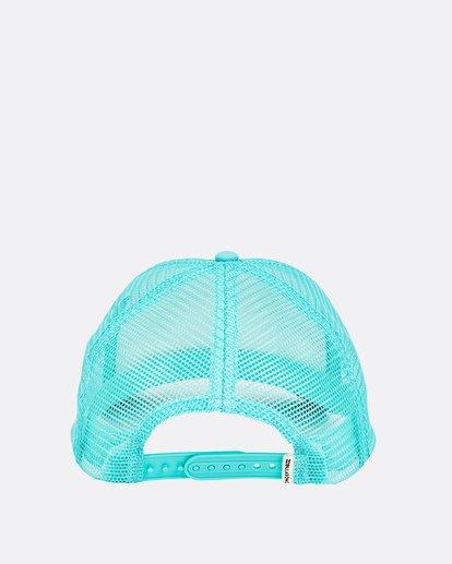 3 Girls' Pitstop Trucker Hat Green GAHTHPIT Billabong
