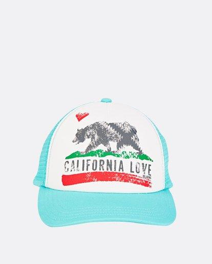 1 Girls' Pitstop Trucker Hat Green GAHTHPIT Billabong