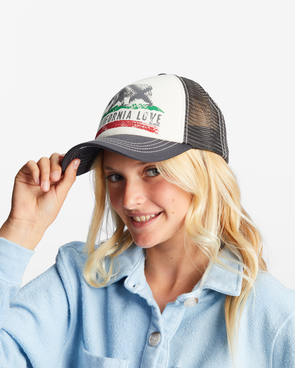 5 Girls' Pitstop Trucker Hat White GAHTHPIT Billabong