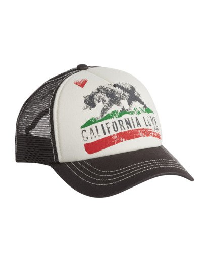 6 Girls' Pitstop Trucker Hat White GAHTHPIT Billabong