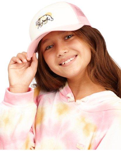 4 Girls' Pitstop Trucker Hat Pink GAHTHPIT Billabong