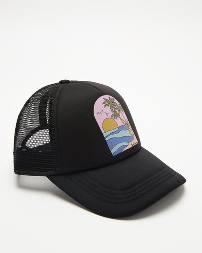 2 Girls' Ohana Trucker Hat Black GAHWQBOH Billabong