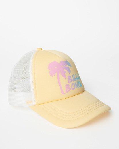 2 Girls' Ohana Trucker Hat Yellow GAHWQBOH Billabong