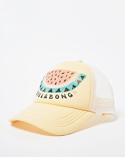 2 Girls' Ohana Trucker Hat Yellow GAHWQBOH Billabong
