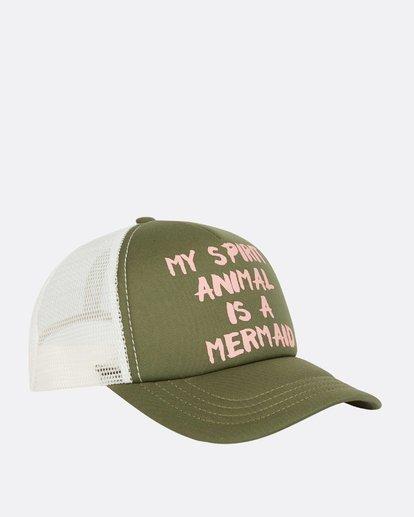 2 Ohana Trucker Hat Green GAHWQBOH Billabong