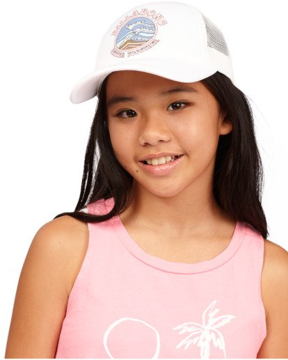 2 Girls' Ohana Trucker Hat White GAHWQBOH Billabong