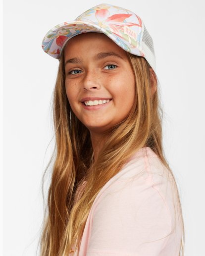 1 Girls' Shenanigans Trucker Hat Orange GAHWQBSH Billabong