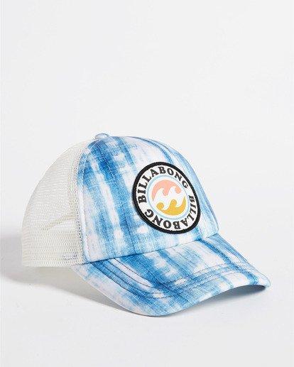 2 Girls' Shenanigans Trucker Hat Blue GAHWQBSH Billabong