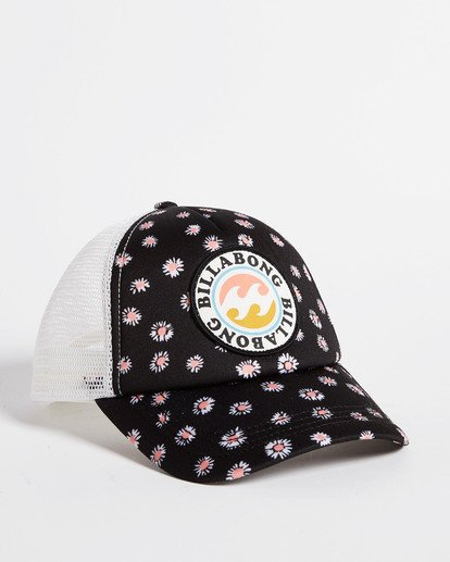 3 Girls' Shenanigans Trucker Hat Black GAHWQBSH Billabong