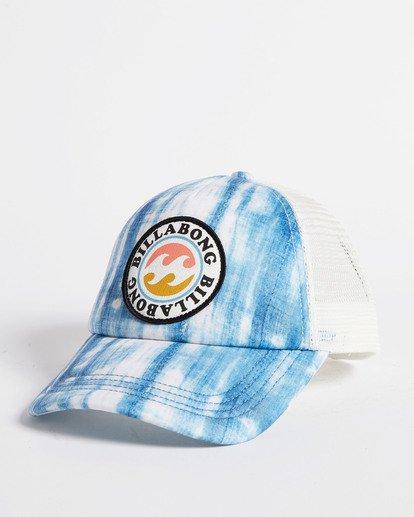 3 Girls' Shenanigans Trucker Hat Blue GAHWQBSH Billabong