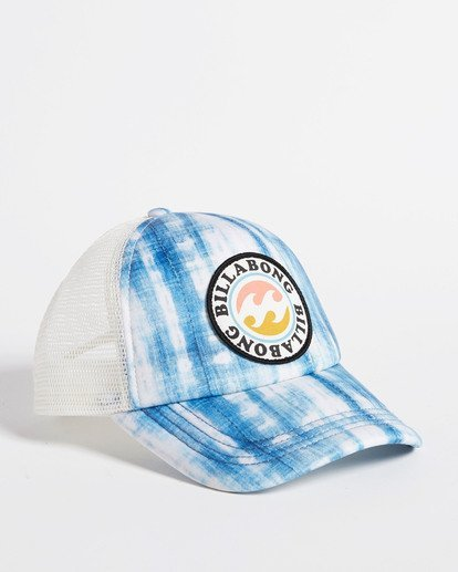 4 Girls' Shenanigans Trucker Hat Blue GAHWQBSH Billabong