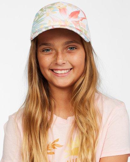6 Girls' Shenanigans Trucker Hat Orange GAHWQBSH Billabong