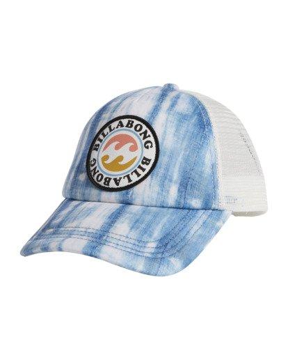 5 Girls' Shenanigans Trucker Hat Blue GAHWQBSH Billabong