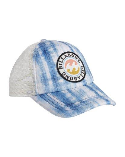 6 Girls' Shenanigans Trucker Hat Blue GAHWQBSH Billabong