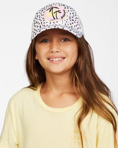 6 Girls' Shenanigans Trucker Hat White GAHWQBSH Billabong