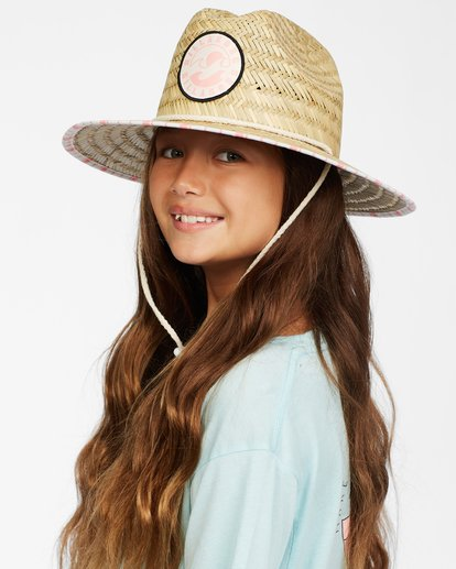6 Girls' Beach Dayz Lifeguard Hat Orange GAHWTBBE Billabong