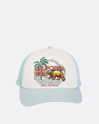 1 Girls' Cali Vibes Trucker Hat White GAHWTBCA Billabong
