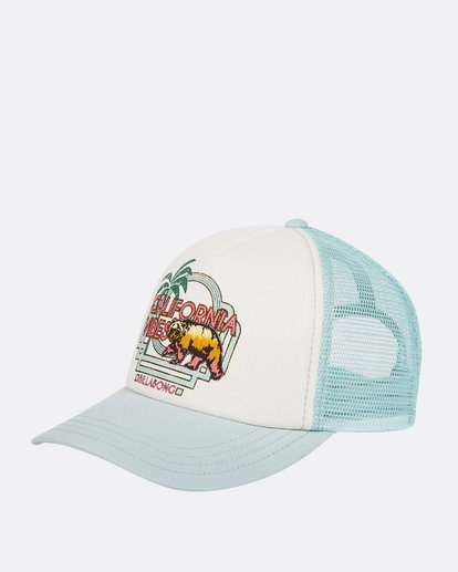 0 Girls' Cali Vibes Trucker Hat White GAHWTBCA Billabong
