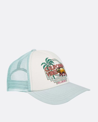 2 Girls' Cali Vibes Trucker Hat White GAHWTBCA Billabong