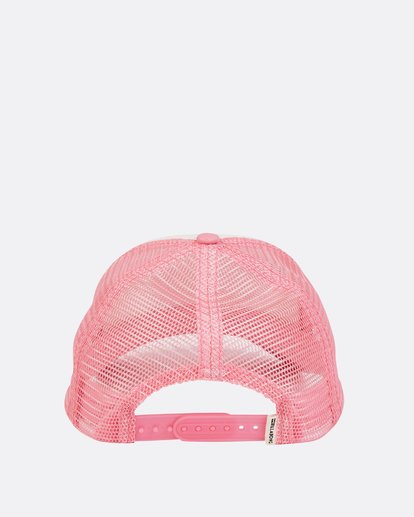 3 Girls' Cali Vibes Trucker Hat Pink GAHWTBCA Billabong