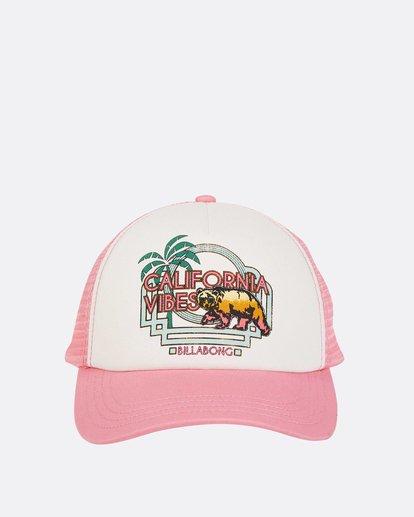1 Girls' Cali Vibes Trucker Hat Pink GAHWTBCA Billabong