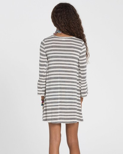 1 Girls' Daytime Dancing Striped Dress White GD01SBDA Billabong